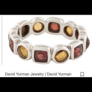 David Yurman Chiclet Eternity Band Ring - Size 6